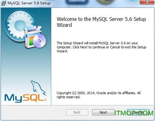 MySQL数据库服务器 v5.6.19 for win32 英文官方安装版 0