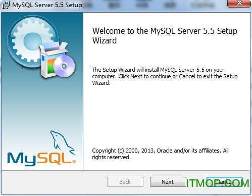 MySQL Server  for Windows 32Bit v5.5.35 免费安装版 0