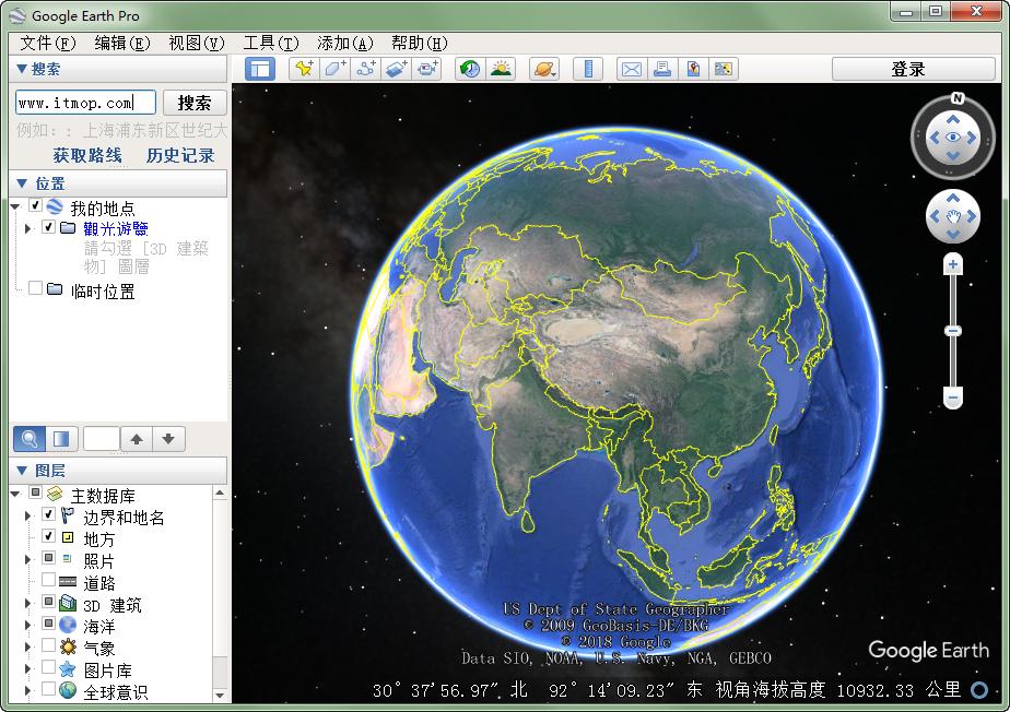Google Earth(谷歌地球�件) v7.3 中文版 0