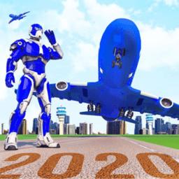 机器人飞机模拟器游戏
