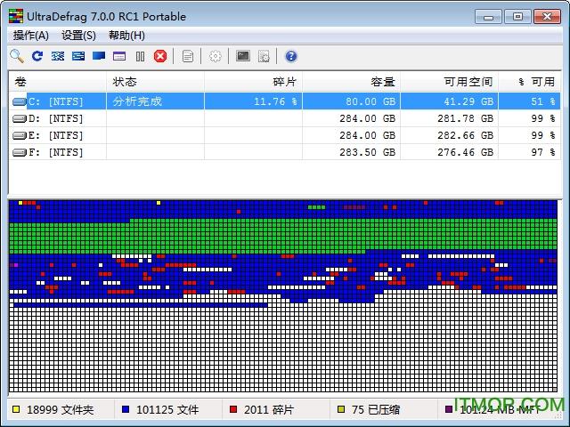 UltraDefrag(硬盘碎片整理工具) v7.0.0.1 中文绿色便捷版 0