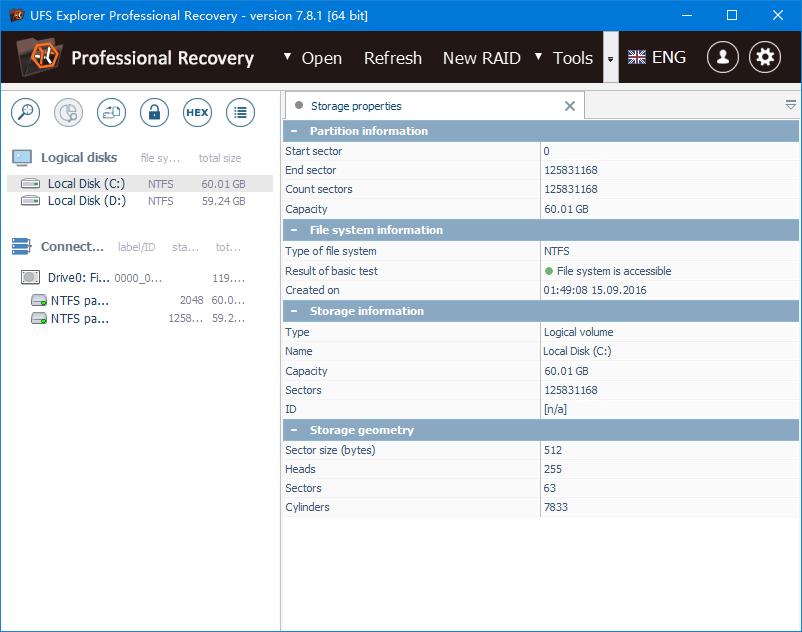 免费数据恢复腾博会官网(UFS Explorer Professional Recovery Portable) v7.8.1 绿色免费版 0