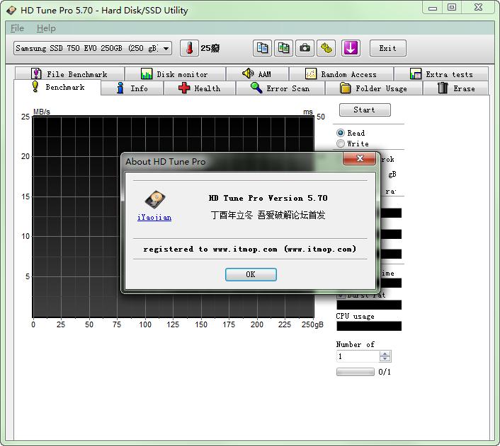 hd tune pro 硬盘检测工具 v5.60 汉化绿色破解版 0