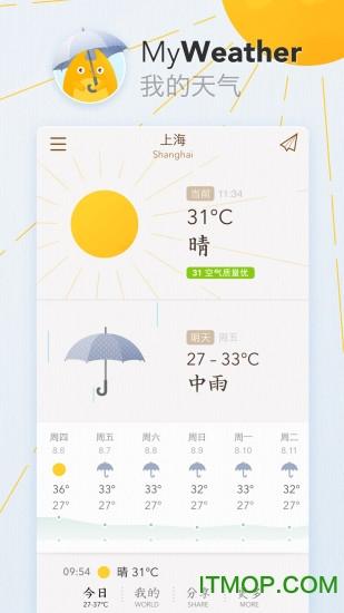 我的天气MyWeather v0.1.0 安卓版2