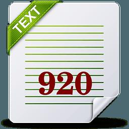 920文本编辑器(920 Text Editor)