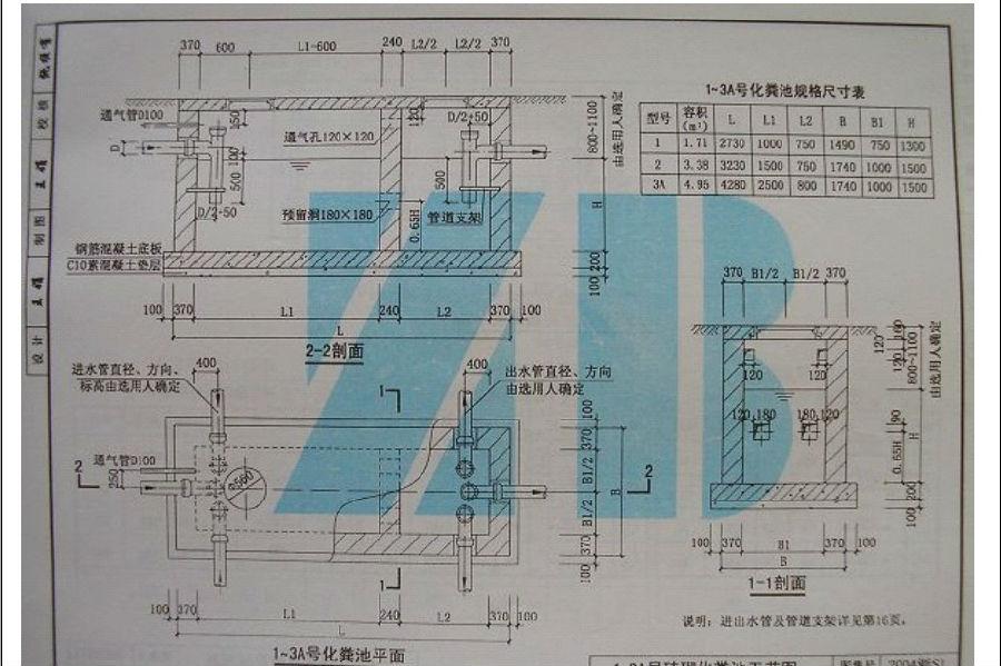 2014浙s1 砖砌化粪池图集