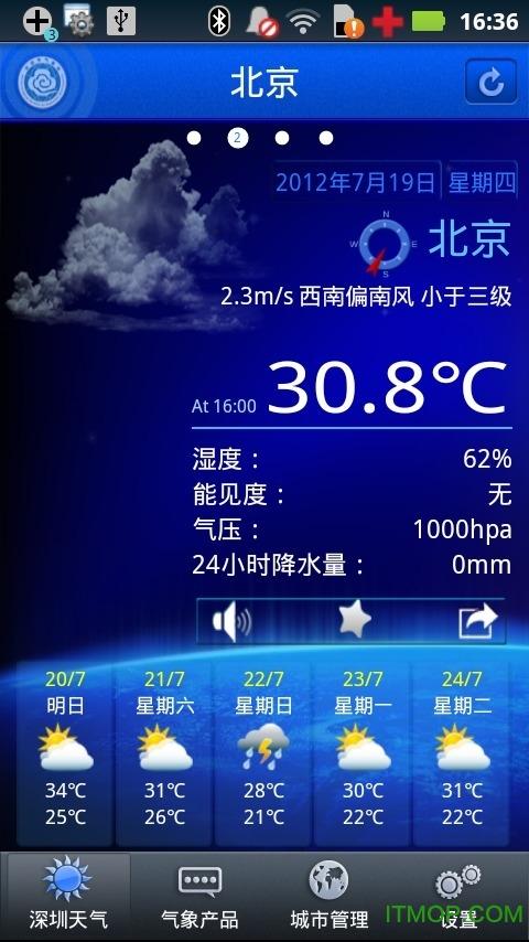 深圳天气app v5.2.2 安卓版0