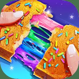 彩虹魔法甜点梦幻独角兽食物