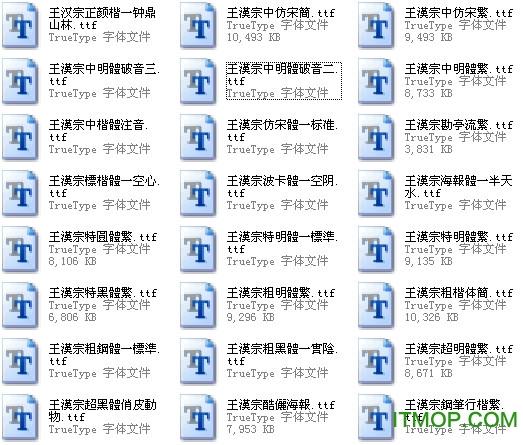 王汉宗自由字体库打包(125款)  0