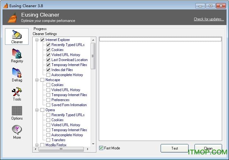 Eusing Free Registry Cleaner(注册表清理工具) v3.86 绿色版 0