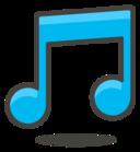 音乐五线谱音符PS形状