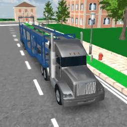 手机游戏汽车运输卡车模拟器