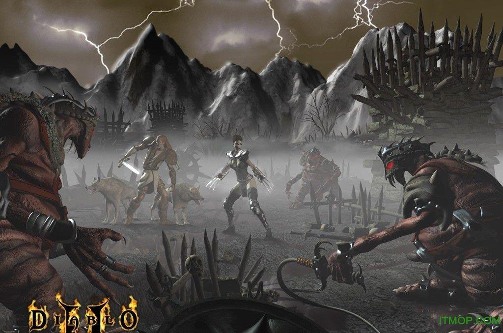 暗黑破坏神2全人物终极绿装存档 完美通关版 0