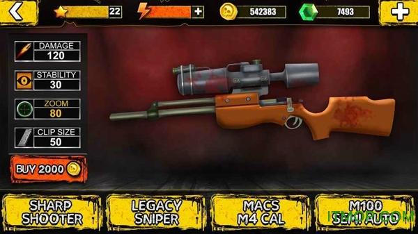 狙击手万圣节僵尸中文破解版 v1.2 安卓无限金币内购版 2