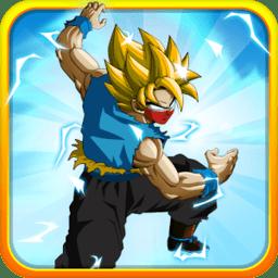 悟空赛亚人的战斗中文破解版无限金币(Goku Saiyan Battle)