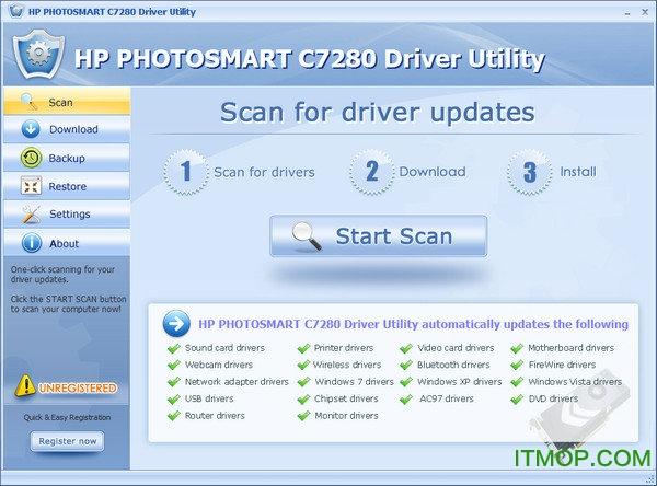 惠普hp photosmart c7280驱动 32位/64位 0