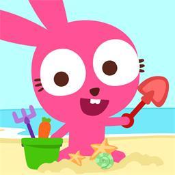 泡泡兔沙滩派对(Purple Pink summer beach)