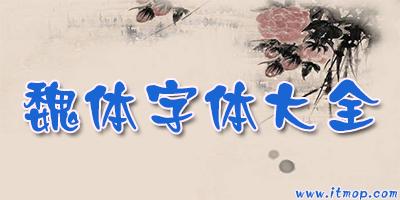 魏�w字�w