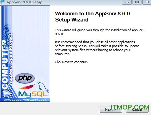 AppServ(php环境安装包) v8.6 64位/32位 支持win7/win8/win10 0