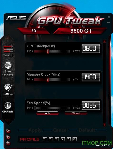 华硕GPU Tweak(显卡超频管理工具) v2.1.9.1 官方安装版 0