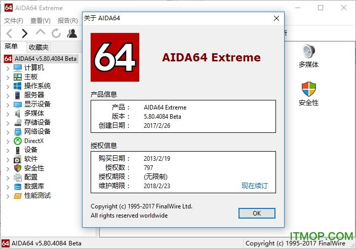 AIDA64 Extreme至尊版/Business商业版 v5.75.3900 绿色中文版 0