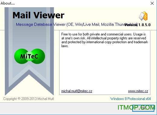 eml文件阅读器中文版(mitec mail viewer) v2.3.0.0 绿色版 0
