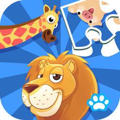 熊大叔宝宝拼图动物游戏