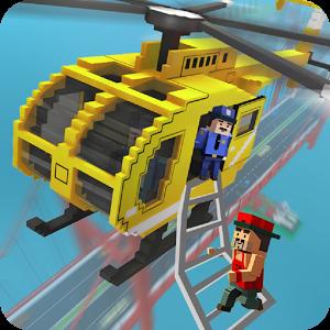 城市方块英雄直升机救援中文破解版