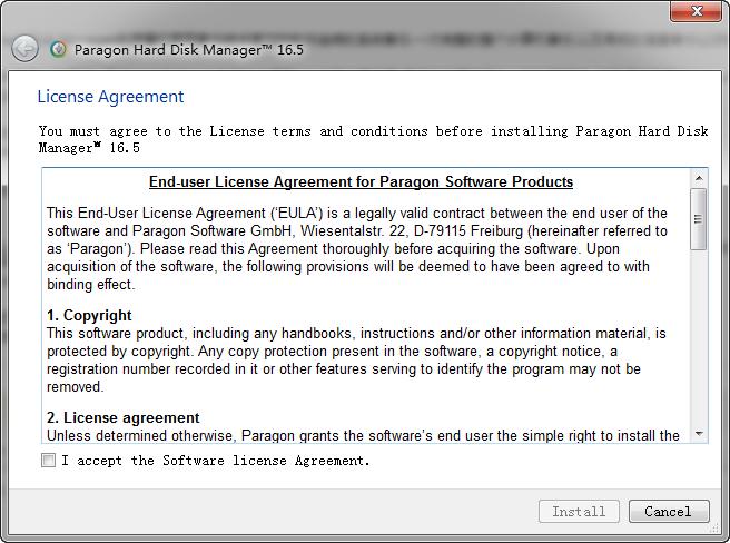 Paragon Hard Disk Manager16(磁盘管理大师) v16.23.1 免费版 0