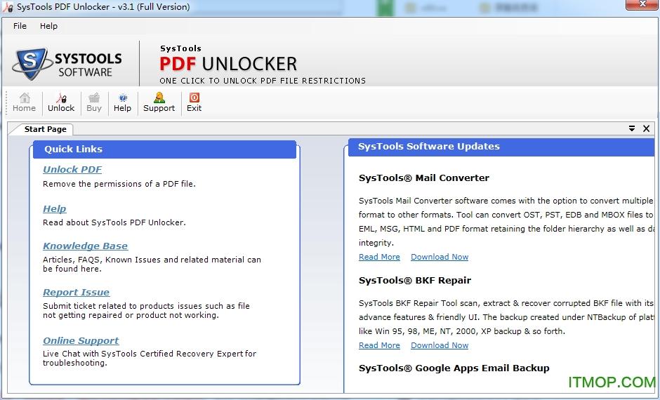 SysTools PDF Unlocker(PDF解锁龙8娱乐网页版登录) v3.3 绿色免费版 0