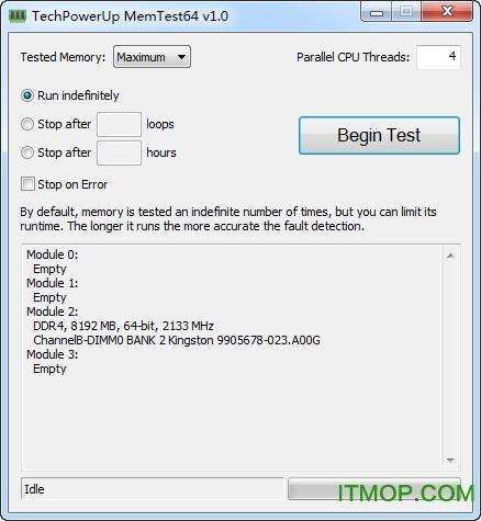 MemTest64(内存稳定性测试软件) v1.0 绿色版 0