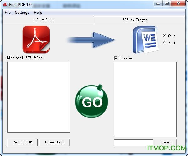 PDF转RTF工具