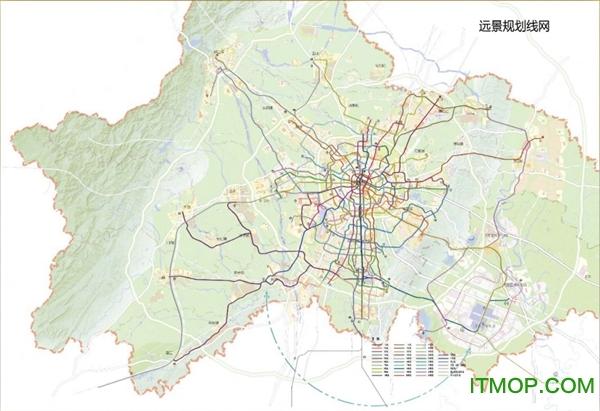 成都地铁规划图2030下载 2030成都地铁规划图运营图下载高清版