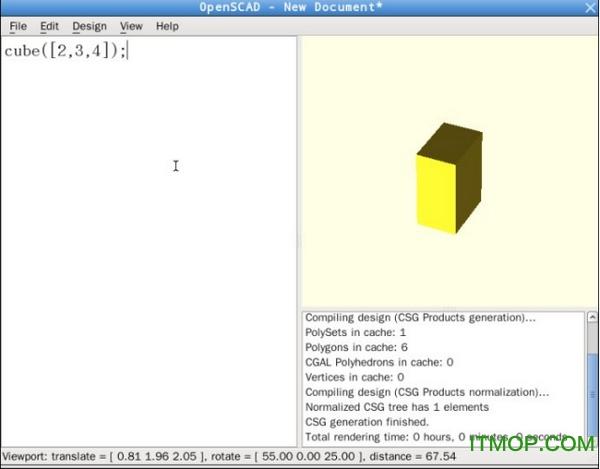 OpenSCAD(3D建模工具) v2019.05 免费版 0