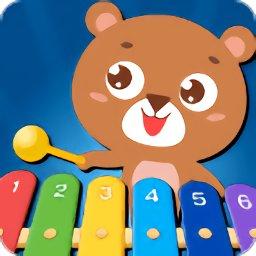亲亲熊弹木琴游戏