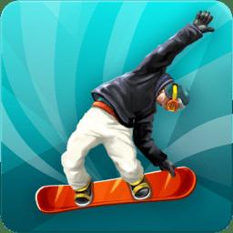 花�踊�板跑酷�o限金�X版(Snowboard Run)