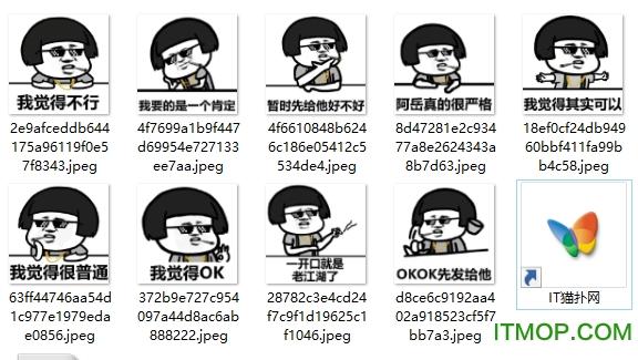抽烟表情中国表情搞笑嘻哈大金有链子版王俊凯墨镜包可怜图片