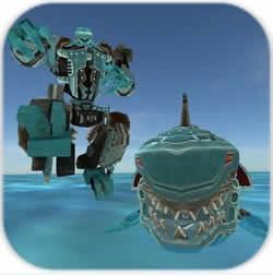 变形鲨鱼机器人游戏无限钻石金币版