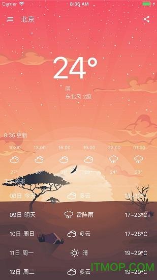 时时天气精准预测 v1.0 安卓版0