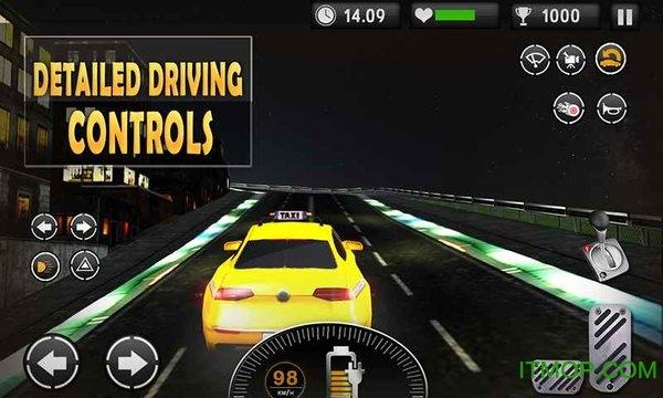 电动车出租车模拟器3D游戏