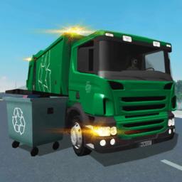 城市绿皮清洁车模拟