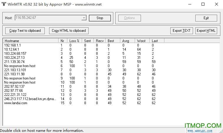 WinMTR(网络诊断工具) v0.92  正式版 0