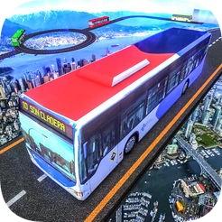 疯狂的特技公交车行驶辛