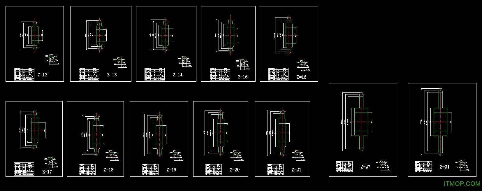 高清路面autoCAD图纸图纸免费打印版链轮碎石v高清标准图片