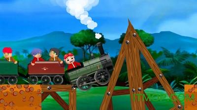 可爱的猪猪侠和他的朋友们一起去旅行;  - 漂亮的游戏画面设计和
