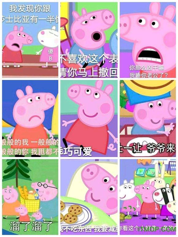 小猪佩奇表情包无水印版 高清版 0