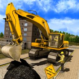 筑路挖掘机驾驶3D