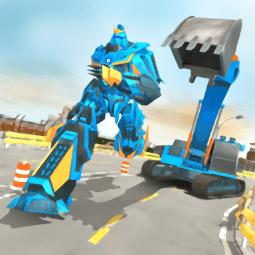 挖掘机机器人英雄游戏