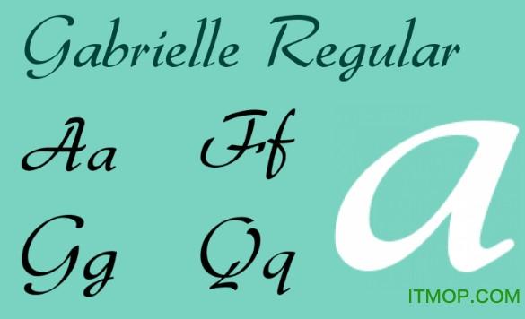 Gabrielle字体