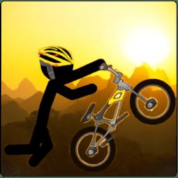 火柴人下坡自行车特技